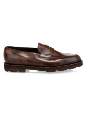 Lopez Chunky Leather Penny Loafers