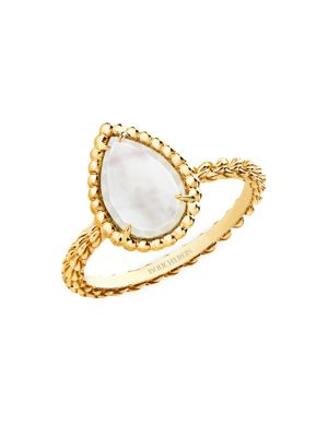 Serpent Bohème 18K Yellow Gold & White Mother-Of-Pearl Ring