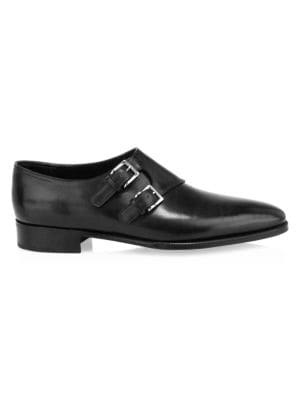 Chapel Double Monk Strap Leather Shoes