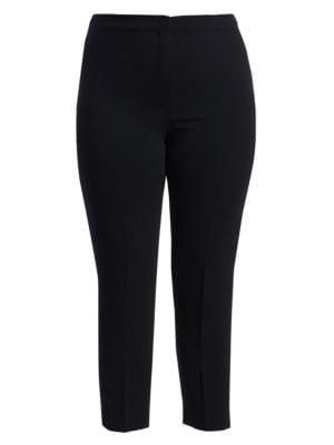 Elegante Slim-Fit Satin Crepe Pants
