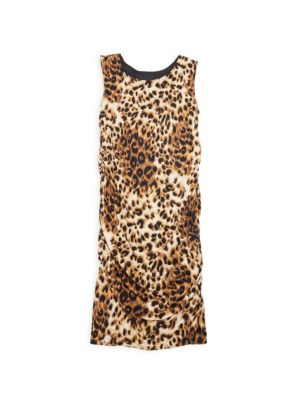 Girl's Animal Print Sleeveless Dress