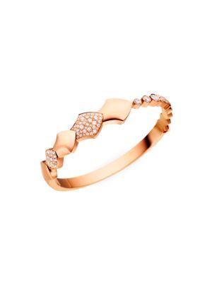 Python 18K Rose Gold & Diamond Bangle Bracelet