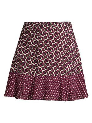 Mod Geometric A-Line Skirt