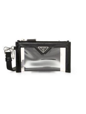 Trick Leather-Trim Translucent Pouch