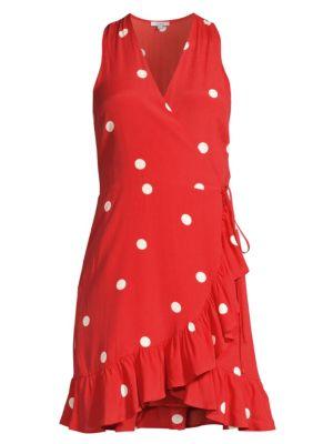 Madison Polka-Dot Wrap Dress
