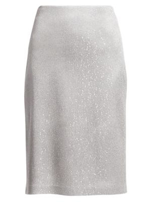 Sequin Knit Skirt