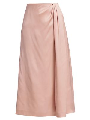 Greta Silk Satin Skirt