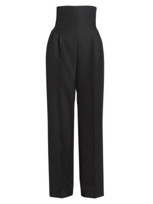 Corset High-Waist Wool Pants