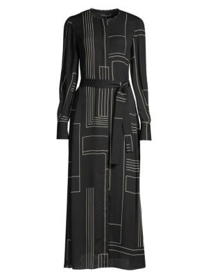 Coleen Geometric Shirtdress