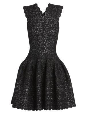 Patio Lurex Sleeveless Fit-&-Flare Dress