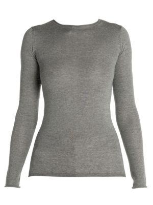 Knit Wool Long-Sleeve Sweater