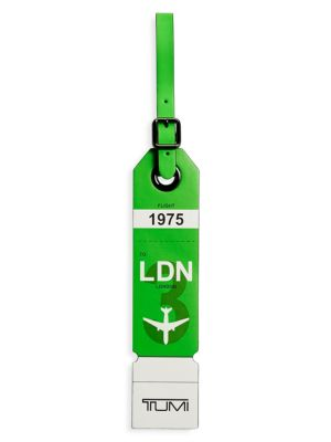 London Leather Luggage Tag