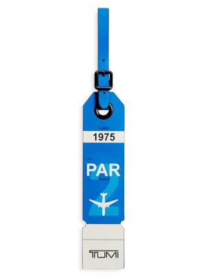 Paris Leather Luggage Tag