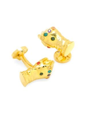 Marvel 3D Thanos Infinity Gold-Plated Gauntlet Cufflinks