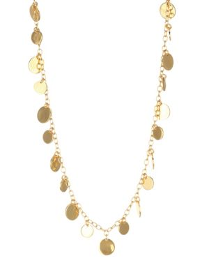 22K Yellow Goldplated Disc Choker Necklace