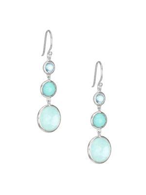 Lollipop Lollitini Sterling Silver & Multi-Stone Triple-Drop Earrings