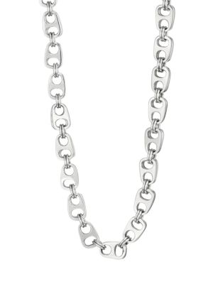 Pop Top Sterling Silver Double Layer Necklace