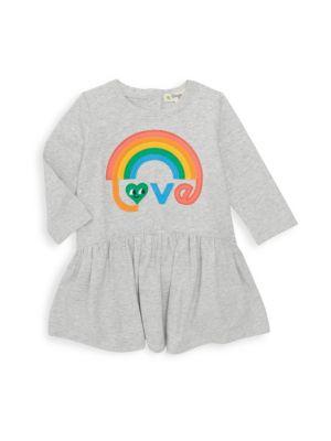 Baby Girl's Rainbow Appliqué Dress