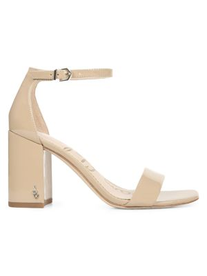 Daniella Ankle-Strap Patent Leather Sandals