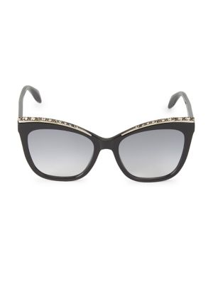 55MM Embellished Cat Eye Sunglasses