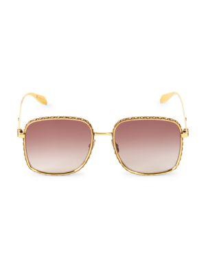 57MM Embellished Square Sunglasses