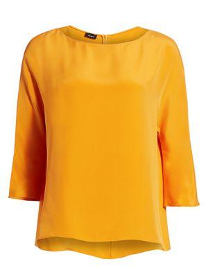 Silk Crepe Tunic Blouse