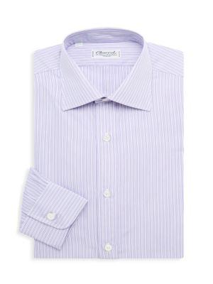 Mini-Stripe Cotton Dress Shirt