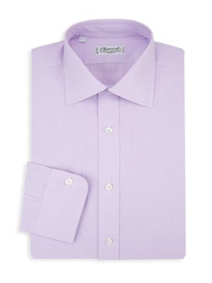 Barre Striped Cotton Dress Shirt