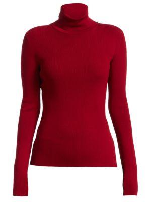 Rib-Knit Turtleneck Sweater