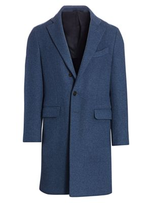 Regular-Fit Single-Breasted Wool & Cashmere Coat