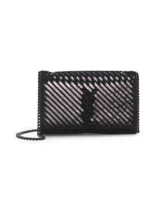 Kate Sequin Leather Shoulder Bag