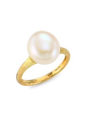 Africa 18K Yellow Gold & 11MM-12MM Round Freshwater Pearl Cocktail Ring
