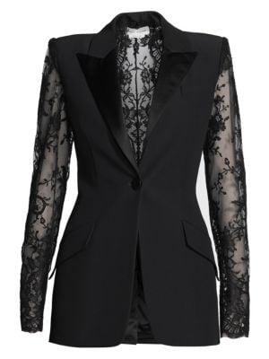 Crepe Lace Suit Jacket