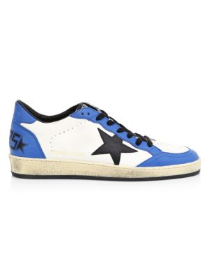 Men's Ball Blue & White Low-Top Sneakers