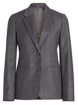 Flannel Shrunken Virgin Wool Blazer