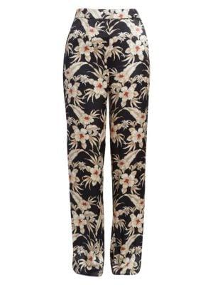 Bani Floral Silk Trousers