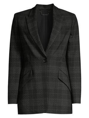 Madison Plaid Single-Breasted Jacket