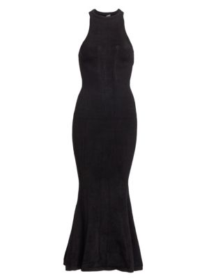 Sleeveless Knit Racerback Mermaid Midi Dress