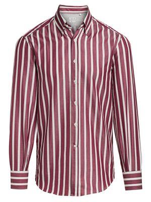 Broad Stripe Button-Down Shirt