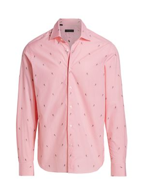 COLLECTION Gingham & Parrot Print Sport Shirt