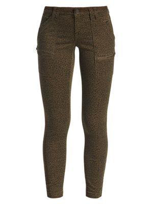 Leopard Print Mid-Rise Skinny Pants