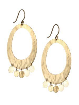 Classico 18K Yellow Gold Crinkle Open Oval Confetti Earrings