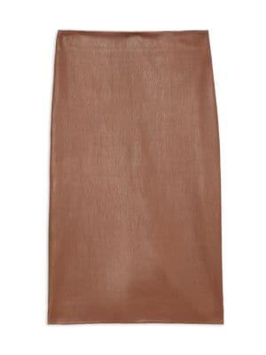 Skinny Leather Pencil Skirt