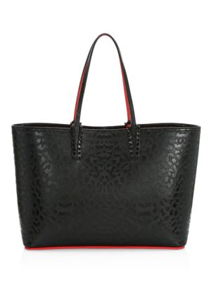 Cabata Leopard-Embossed Leather Tote