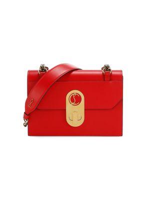 Small Elisa Leather Shoulder Bag
