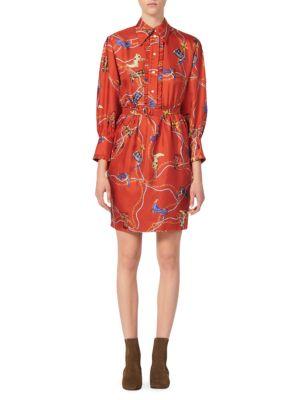 Bootsy Printed Silk Shirtdress