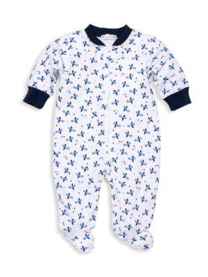 Baby Boy's Planes Pima Cotton Footie