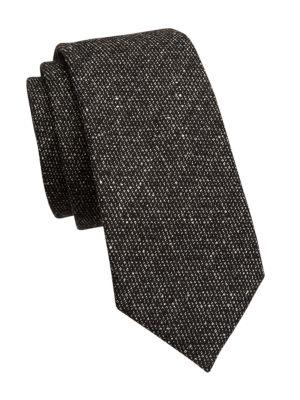 Textured Bi-Color Silk Tie