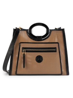 Large Runaway Perforated Leather Shopper