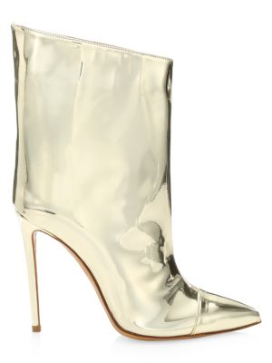 Alex Mirror Metallic Ankle Boots